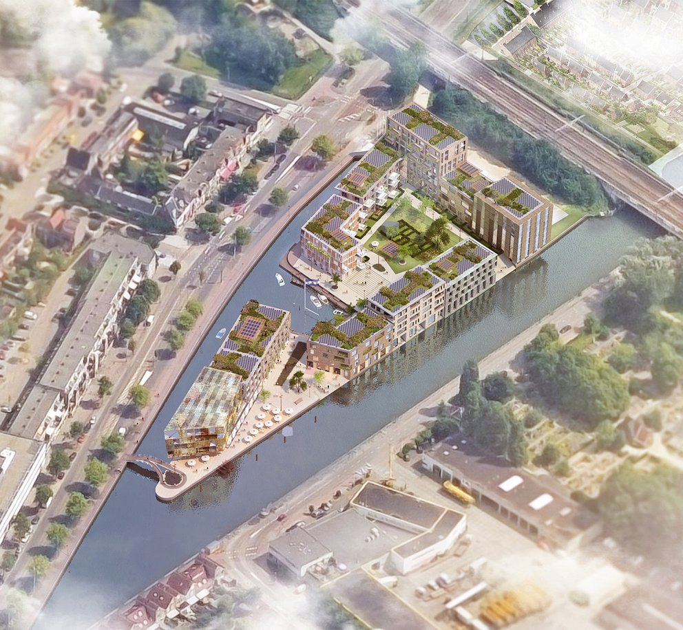 Artist impression van project Punt Sniep in Diemen.